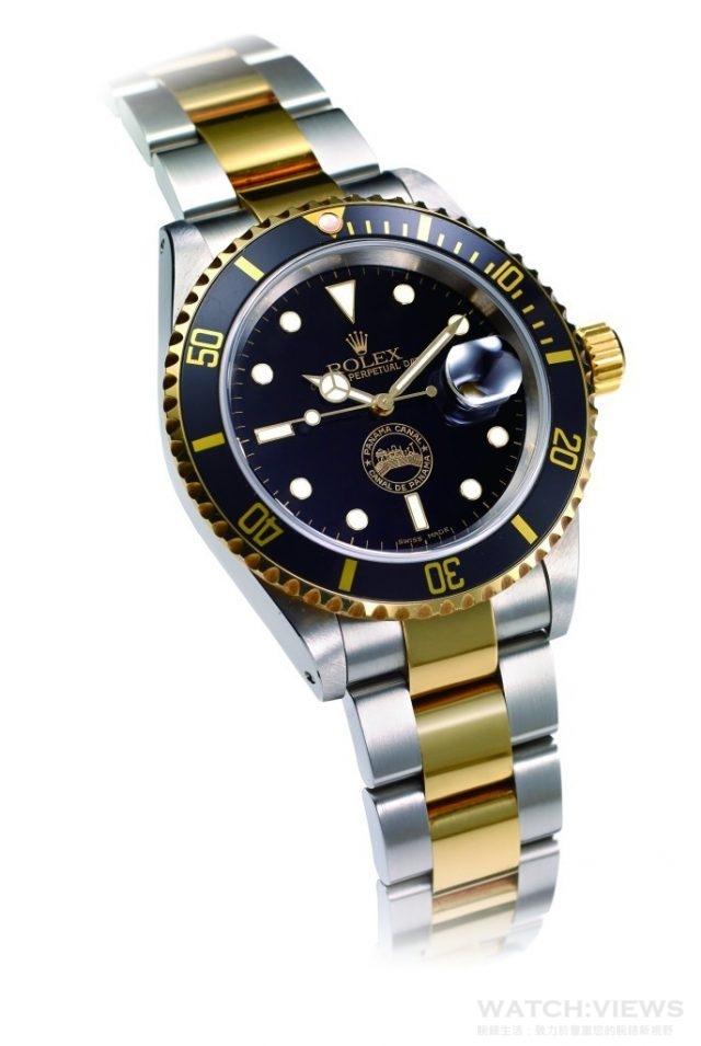 勞力士潛航者Submariner巴拿馬限量紀念錶是為了紀念歸還巴拿馬運河區所製做的,面盤上有巴拿馬運河圖騰。