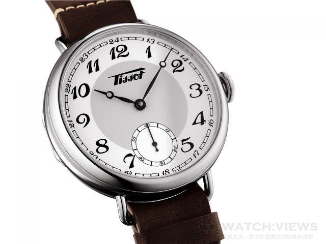 天梭1936經典復刻男款腕錶316L精鋼錶殼及透明錶後蓋,錶徑45毫米,瑞士製ETA 6498-1手動上鍊機芯,抗刮傷藍寶石水晶玻璃錶鏡,防水50米,皮革錶帶,搭配標準錶扣,建議售價NTD31,700。