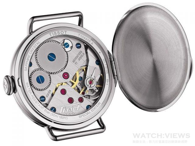 天梭1936經典復刻男款腕錶錶背照