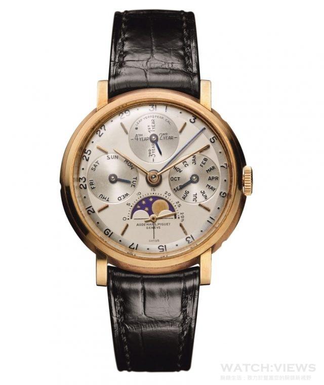 1955年:愛彼推出鐘錶史上第一枚具有閏年顯示的萬年曆腕錶。