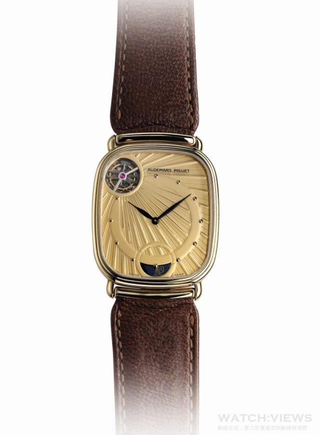 1986年:愛彼推出全球首枚自動上鏈超薄陀飛輪腕錶Ref. 25643BA。