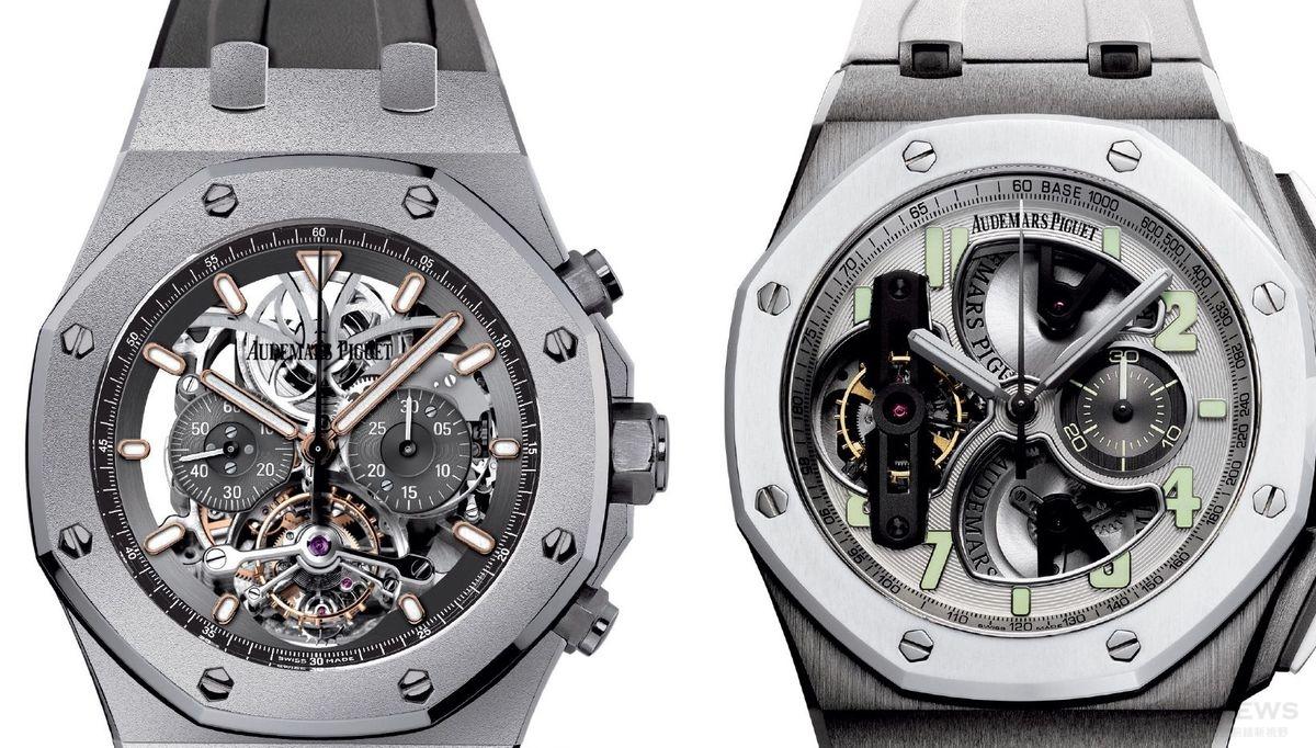 經典 vs. 高科技:愛彼皇家橡樹鏤空陀飛輪計時碼錶&離岸型陀飛輪計時碼錶