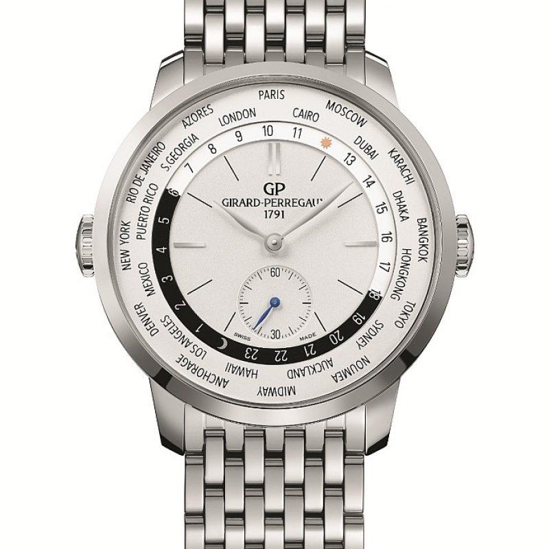 GP芝柏表1966 WW.TC腕表不鏽鋼款式配不鏽鋼鍊帶,建議售價NT$396,400