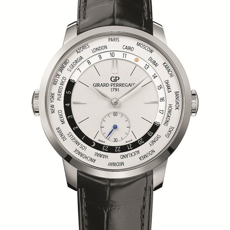 GP芝柏表1966 WW.TC腕表不鏽鋼款式配鱷魚皮表帶,建議售價NT$375,600