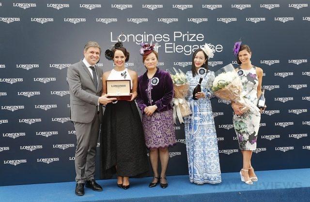 浪琴表副總裁暨全球行銷總監Juan-Carlos Capelli、浪琴表香港區副總經理Karen Au Yeung頒發浪琴表優雅女士大賞。