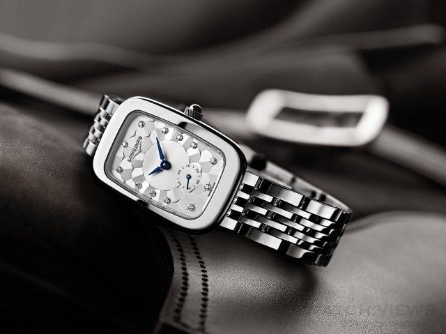 浪琴表騎士系列棋盤紋腕錶