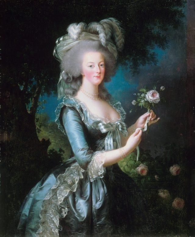 伊麗莎白‧維絲‐勒‧布倫為法國王后繪畫人像畫《瑪麗 - 安托瓦內特與玫瑰》