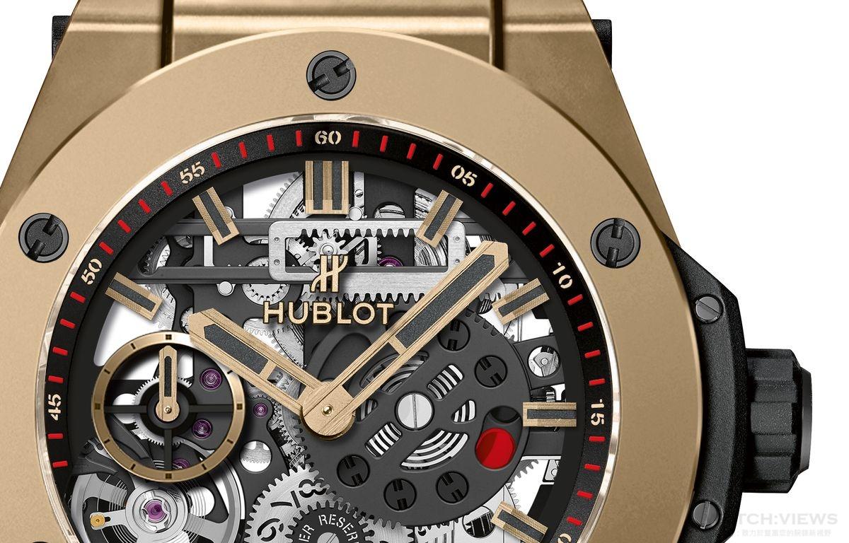 自製機芯與創新材質的最佳融合:HUBLOT BIG BANG MECA-10魔力金腕錶