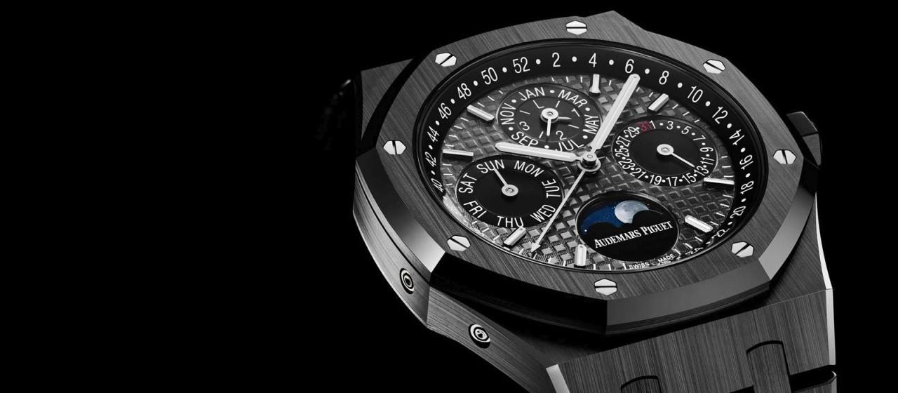 【2017日內瓦錶展報導】愛彼皇家橡樹萬年曆腕錶黑色陶瓷Black Ceramic版本