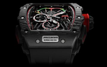 RICHARD MILLE RM 50-03 McLaren F1超輕雙秒追針陀飛輪計時碼錶