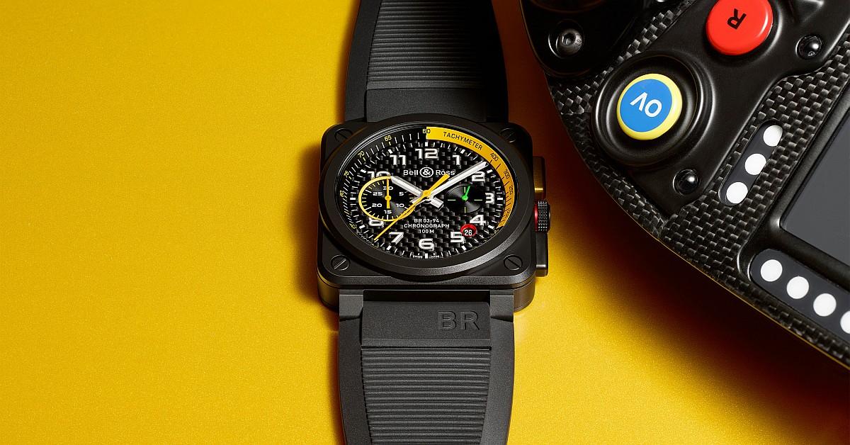 見證雷諾一級方程式車隊R.S.17戰車登場,Bell & Ross全新BR03 RS17計時腕錶率先曝光