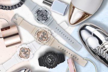 G-SHOCK S Series 2017全新系列 GMA-S120MF MONOTONE STYLE混搭金屬感錶盤,打造潮流時尚風