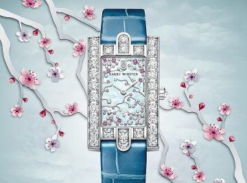 【2017巴塞爾預報】海瑞溫斯頓第五大道 Avenue Classic 系列 Cherry Blossom 腕錶