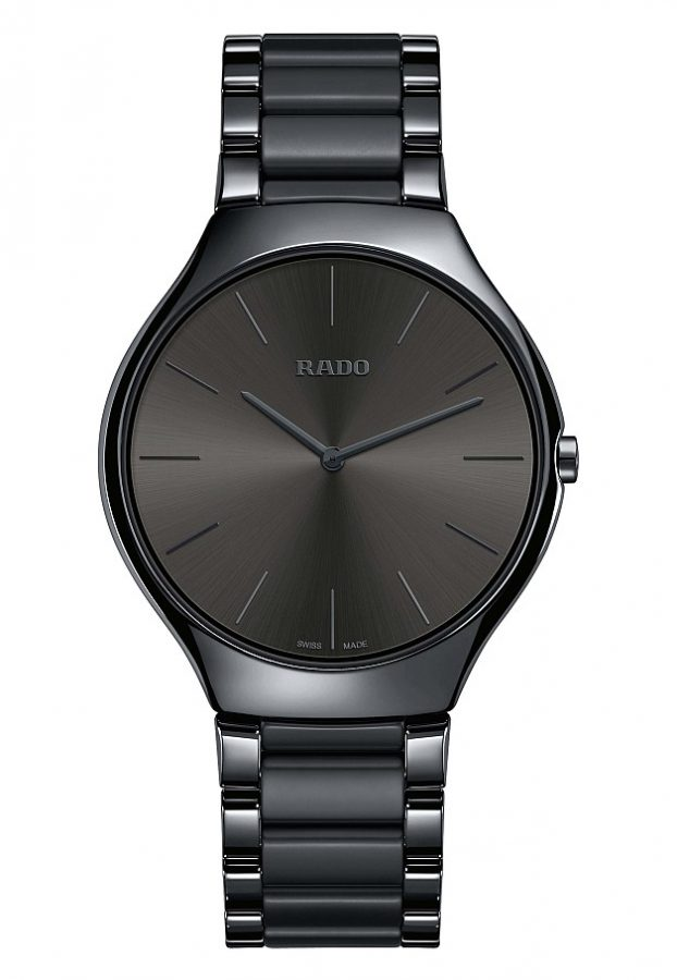 True Thinline真我超薄系列高科技陶瓷玩色腕錶(銀灰色)