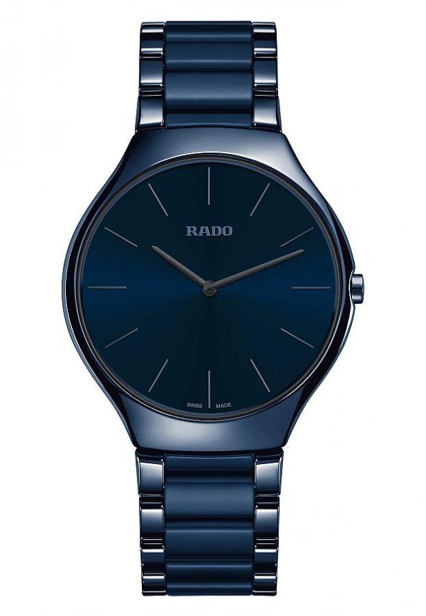 True Thinline真我超薄系列高科技陶瓷玩色腕錶(墨藍色)