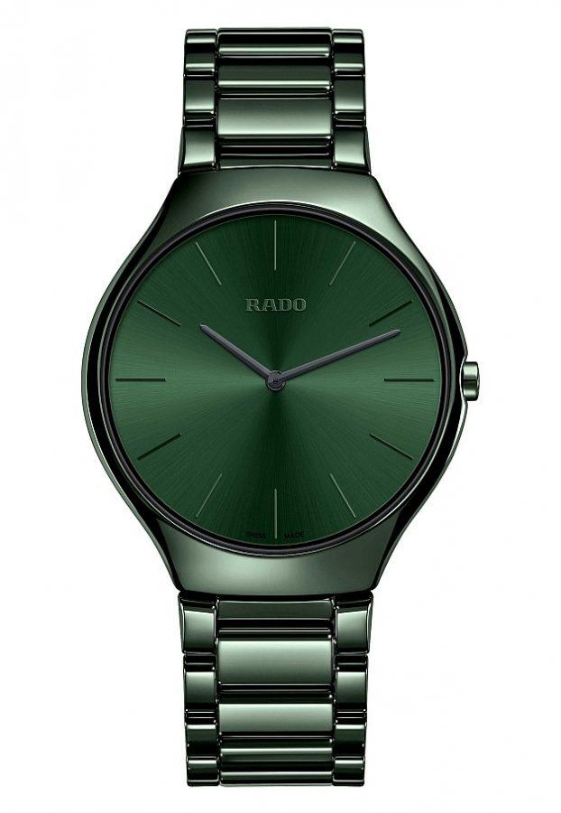 True Thinline真我超薄系列高科技陶瓷玩色腕錶(森林綠色)