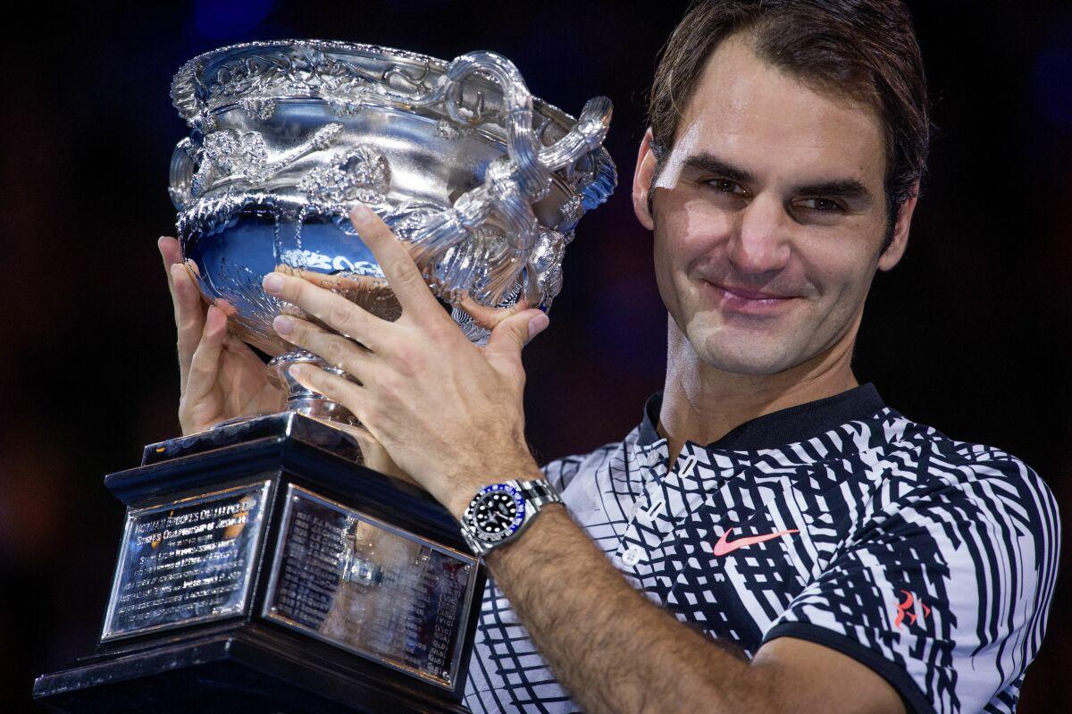 當Grand Slam Master遇上GMT-Master:勞力士代言人費德勒喜迎第18座大滿貫賽冠軍