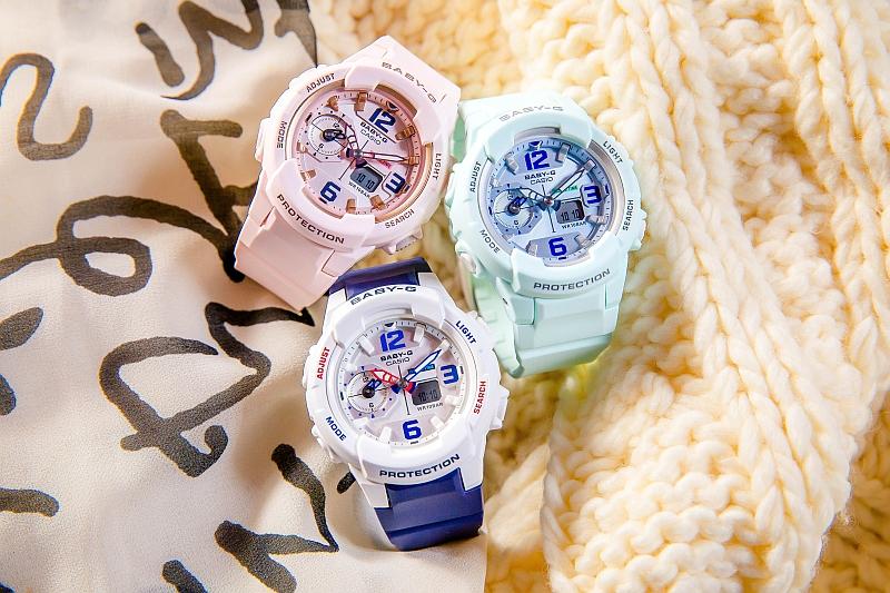 粉嫩夢幻風:BABY-G全新BGA-230SC系列展現春天時尚色彩