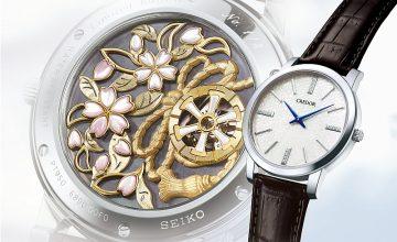 體現日本獨特的「裏勝」美學:CREDOR發表Signo立體雕金及鏤空雕金錶