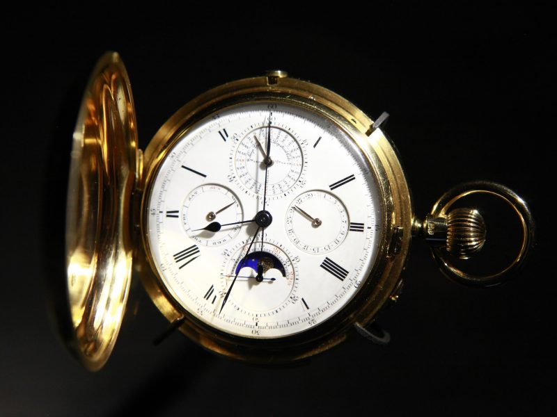 愛彼館藏的1884年18K金萬年曆懷錶,獨一無二。