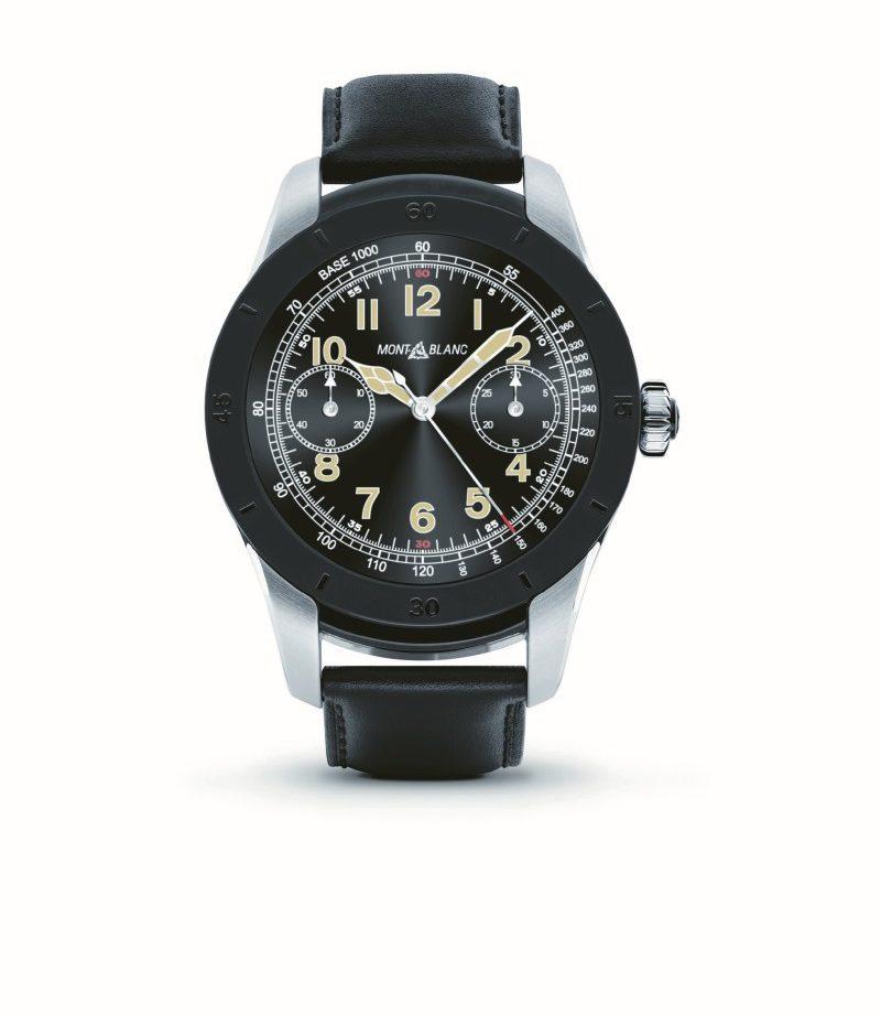 萬寶龍 Summit智能腕錶,雙色精鋼錶殼與黑色PVD鍍膜錶圈,建議售價約NTD30,200。