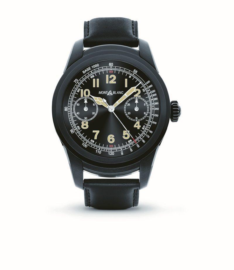萬寶龍 Summit智能腕錶,黑色PVD鍍膜精鋼錶殼,建議售價約NTD30,200。