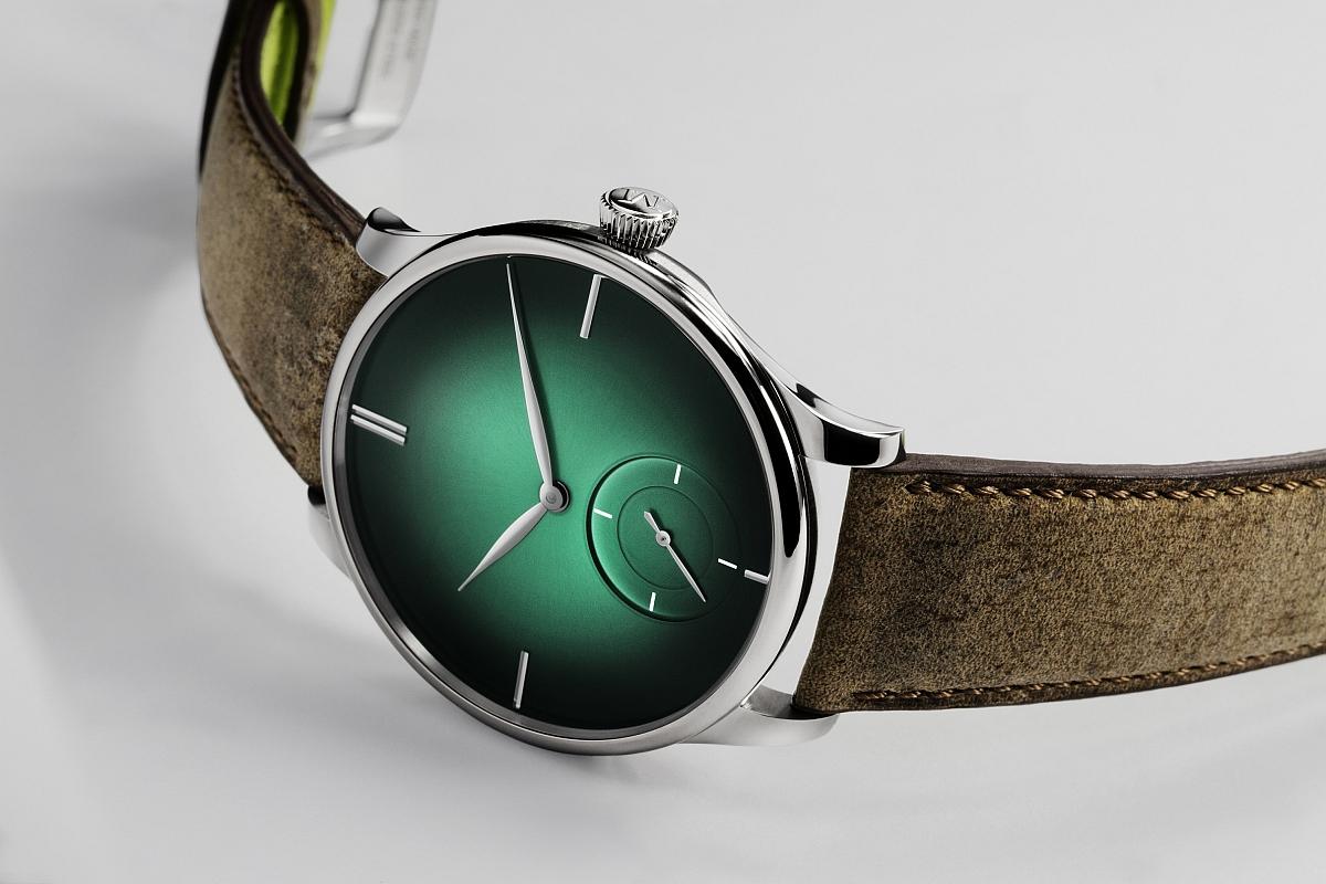 【2017巴塞爾預報】觸電般的綠光奇蹟:亨利慕時冒險者小秒針XL Purity腕錶