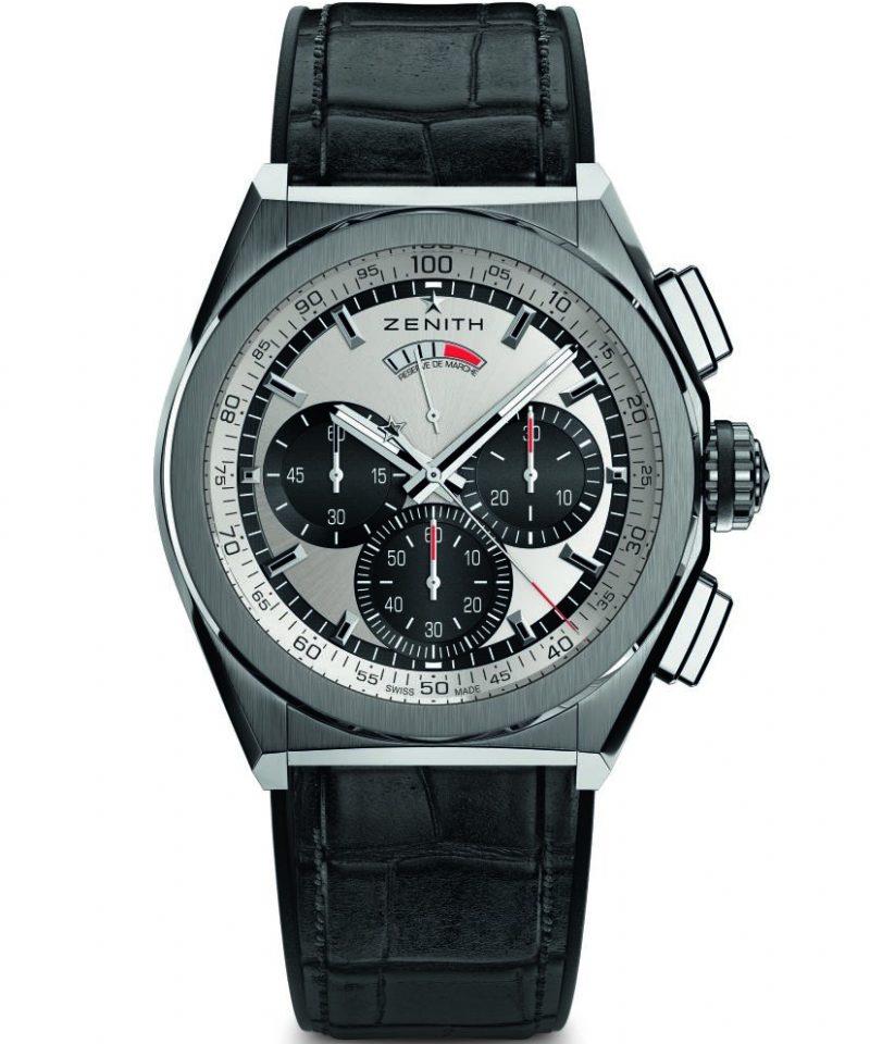 Defy El Primero 21腕錶,鈦金屬錶殼,銀色錶面,建議售價NT$344,200