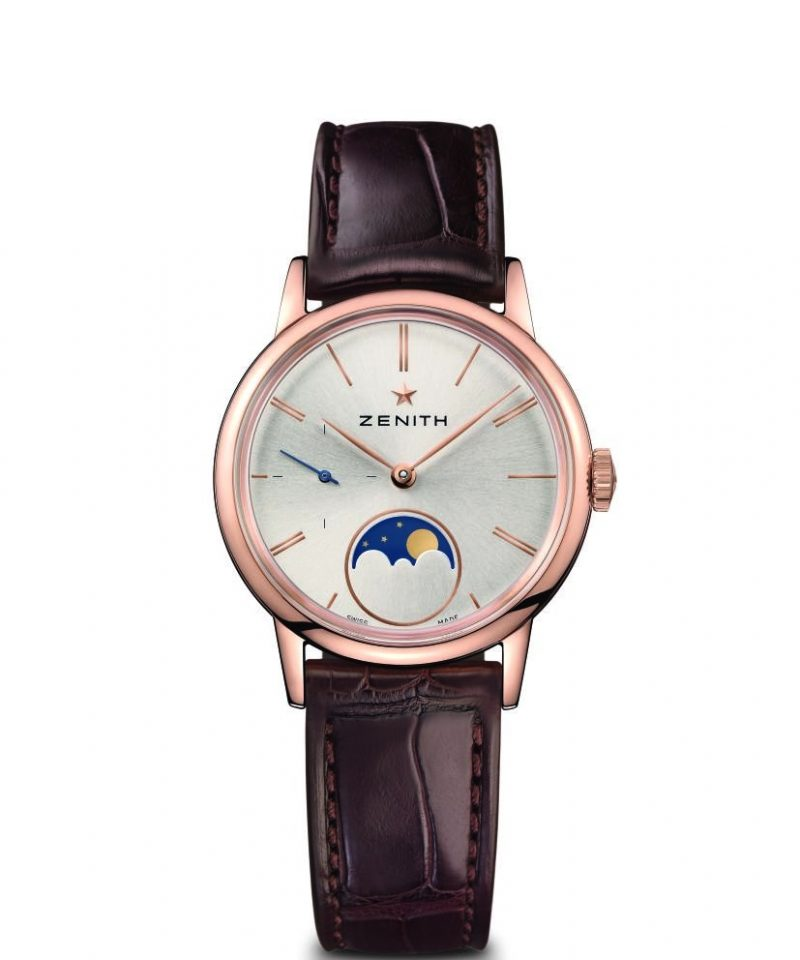 Elite Lady Moonphase 33毫米腕錶玫瑰金款,建議售價NT$332,900
