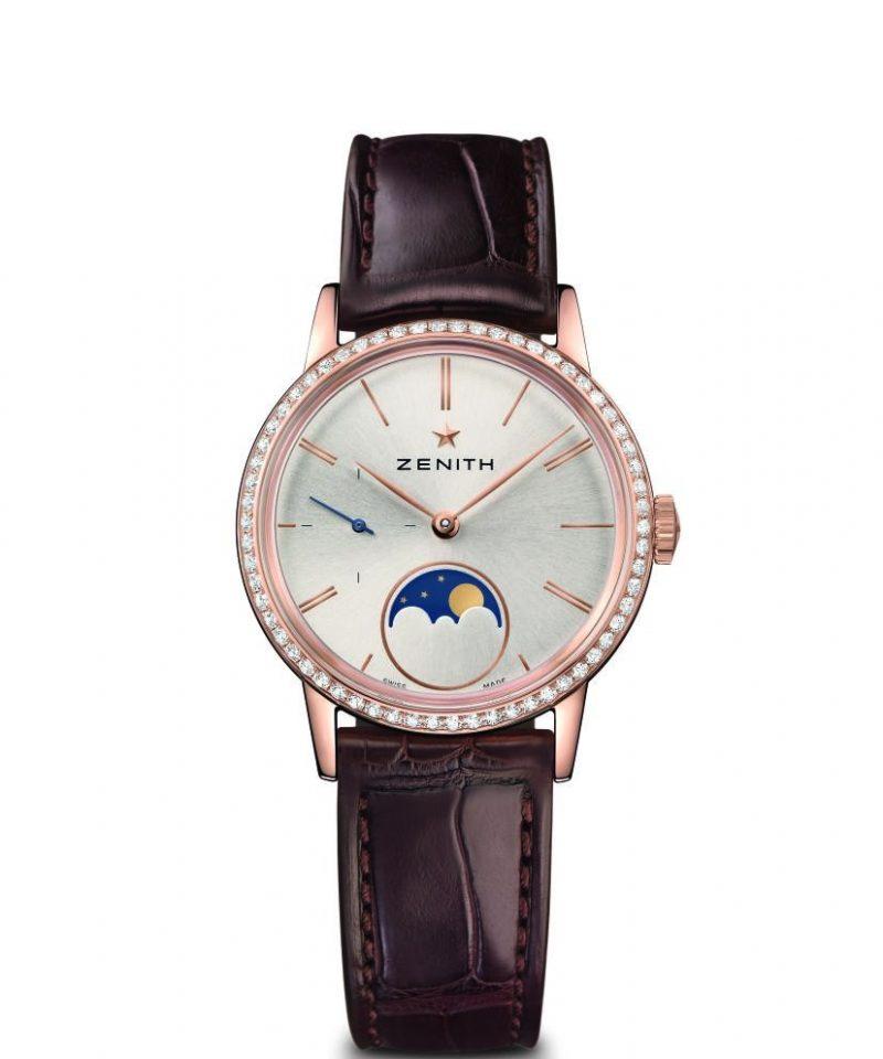 Elite Lady Moonphase 33毫米腕錶玫瑰金鑲鑽款,建議售價NT$399,300