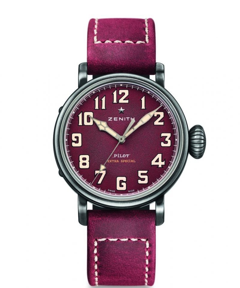 Pilot Type 20 Extra Special 40毫米腕錶酒紅色面盤款,建議售價NT$ 198,400