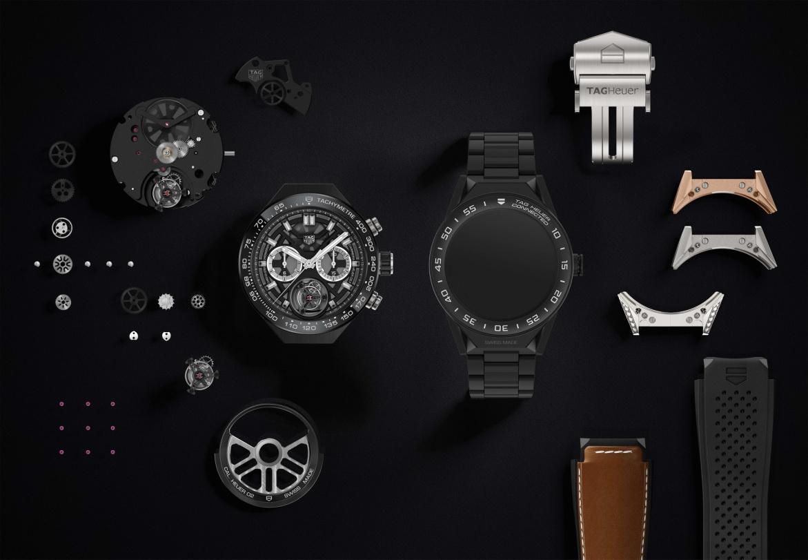三強聯手再進化  豪雅發表Connected Modular 45 腕錶