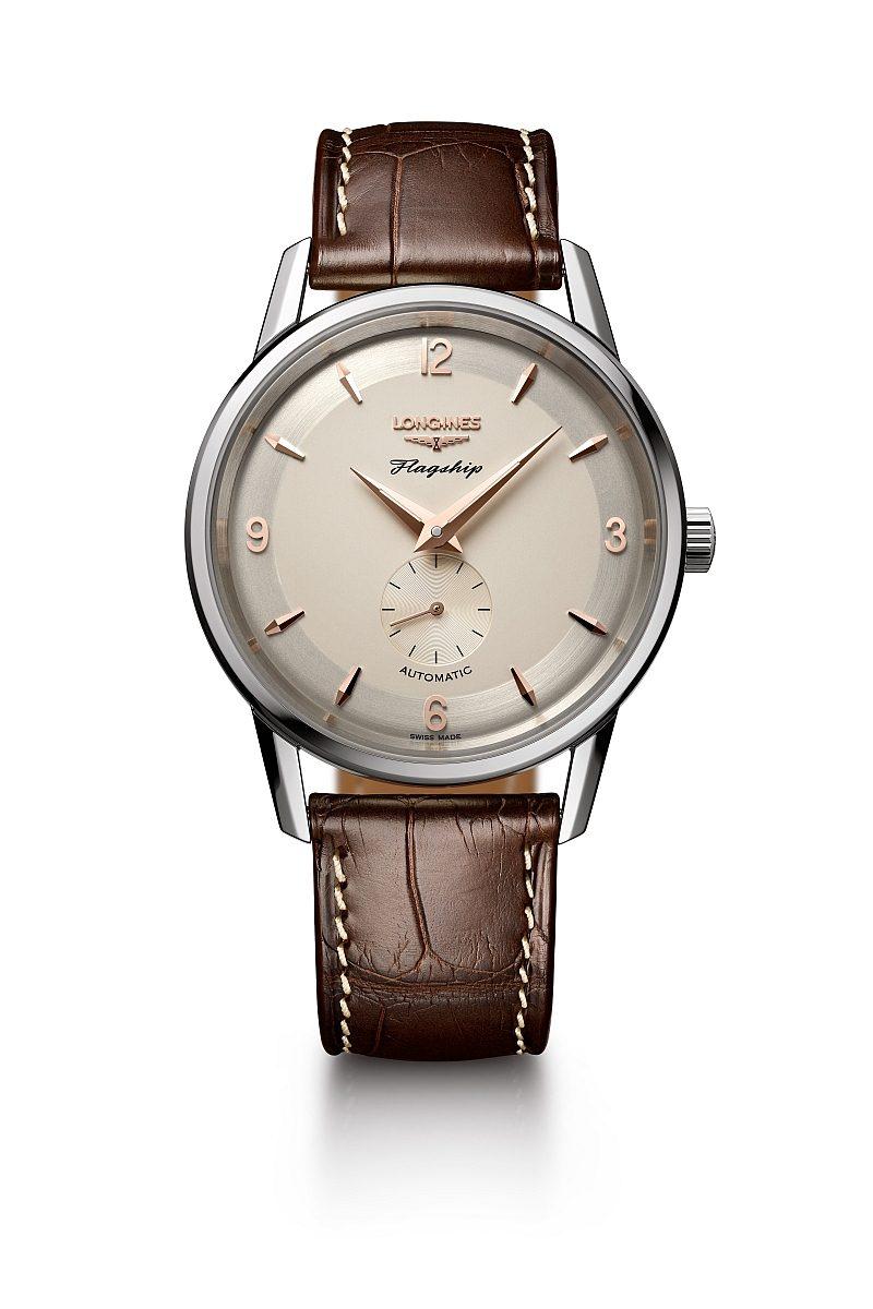 浪琴表旗艦系列60周年紀念不鏽鋼復刻腕錶,建議售價 NTD66,000