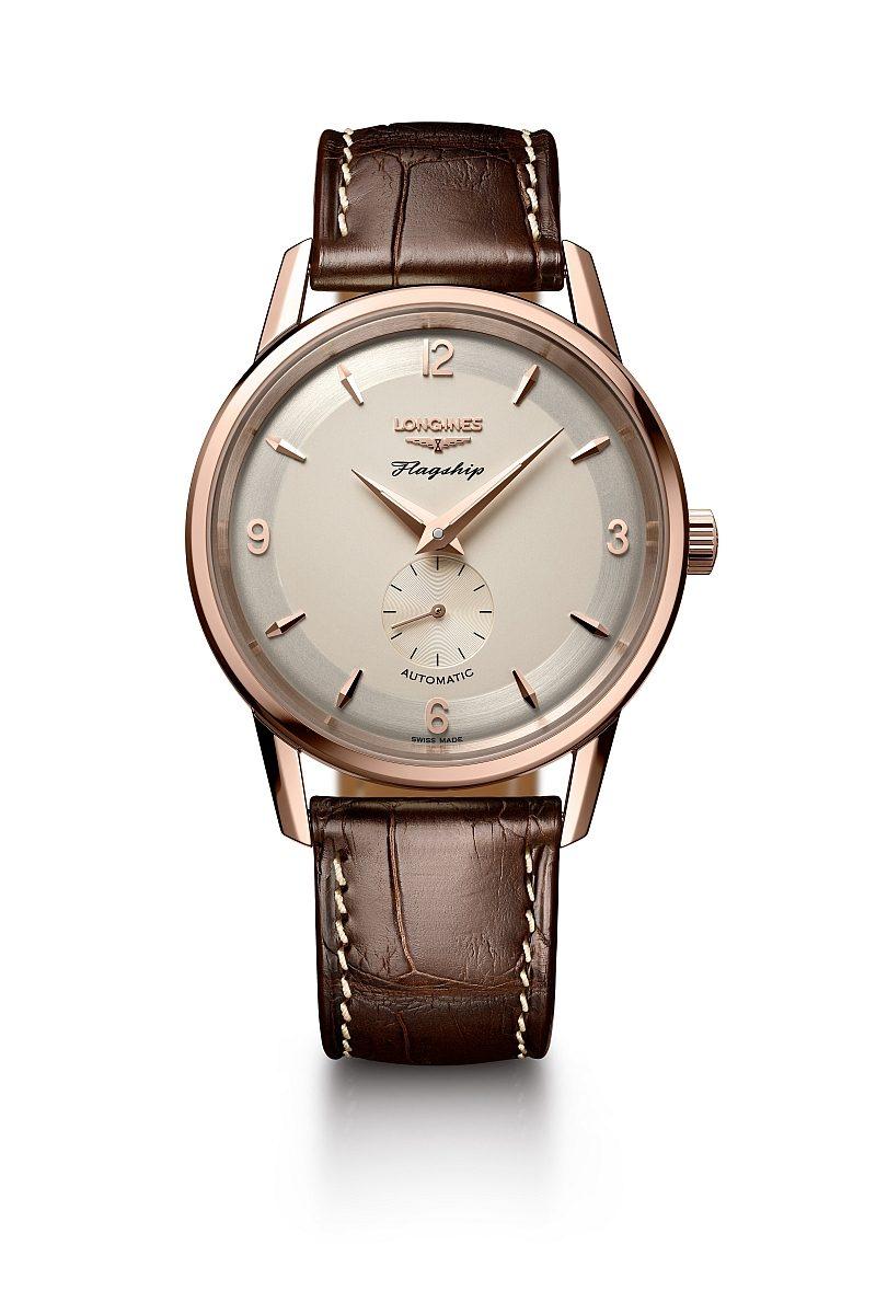 浪琴表旗艦系列60周年紀念18K玫瑰金復刻腕錶,建議售價NTD259,400