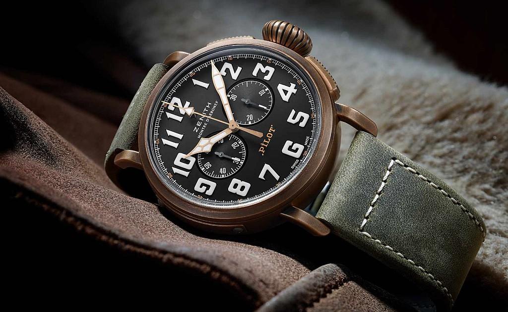 【2017巴塞爾預報】ZENITH推出Heritage系列Pilot Extra Special 計時碼錶