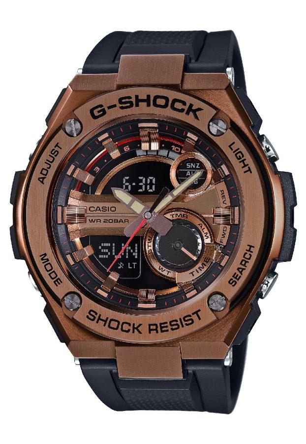 G-STEEL系列GST-210B-4A腕錶,參考售價:NTD 10,500。