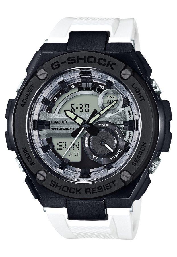 G-STEEL系列GST-210B-7A腕錶,橡膠錶帶,參考售價:NTD 10,500。