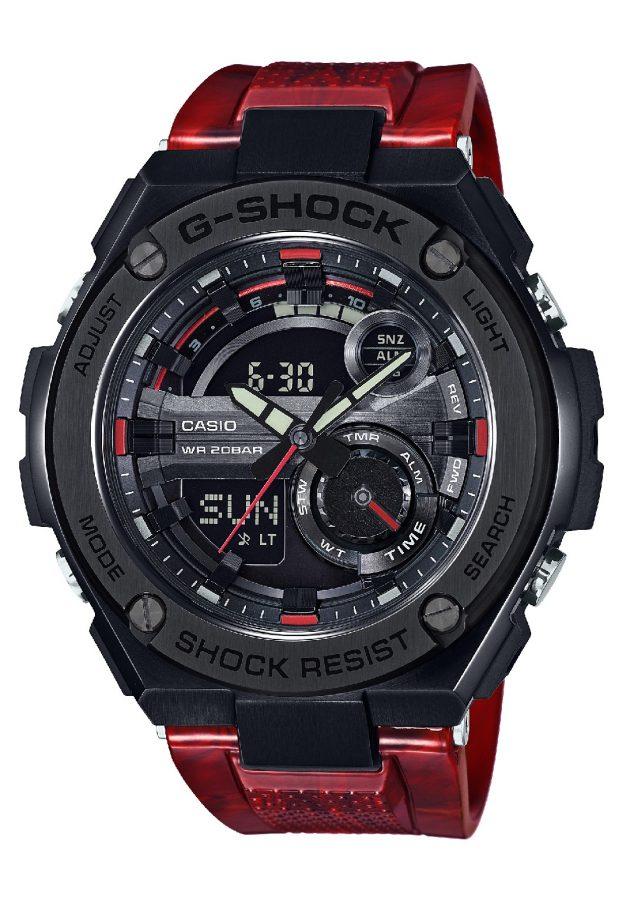 G-STEEL系列GST-210M-4A腕錶,橡膠錶帶,參考售價:NTD 11,500。