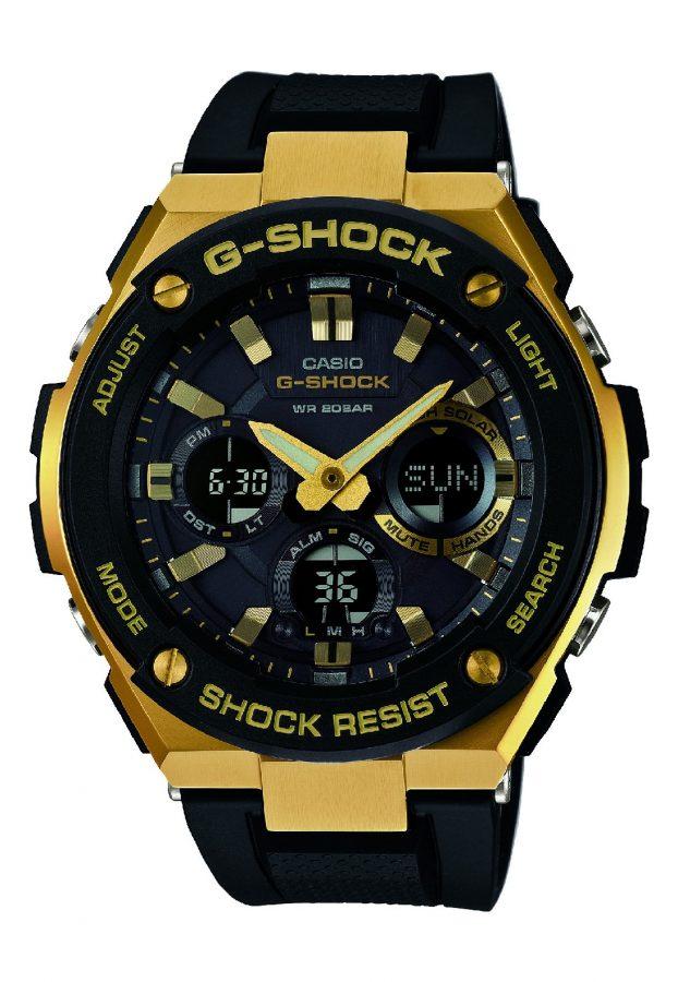 G-STEEL系列GST-S100G-1A腕錶,太陽能機芯,橡膠錶帶,參考售價:NTD 8,500。