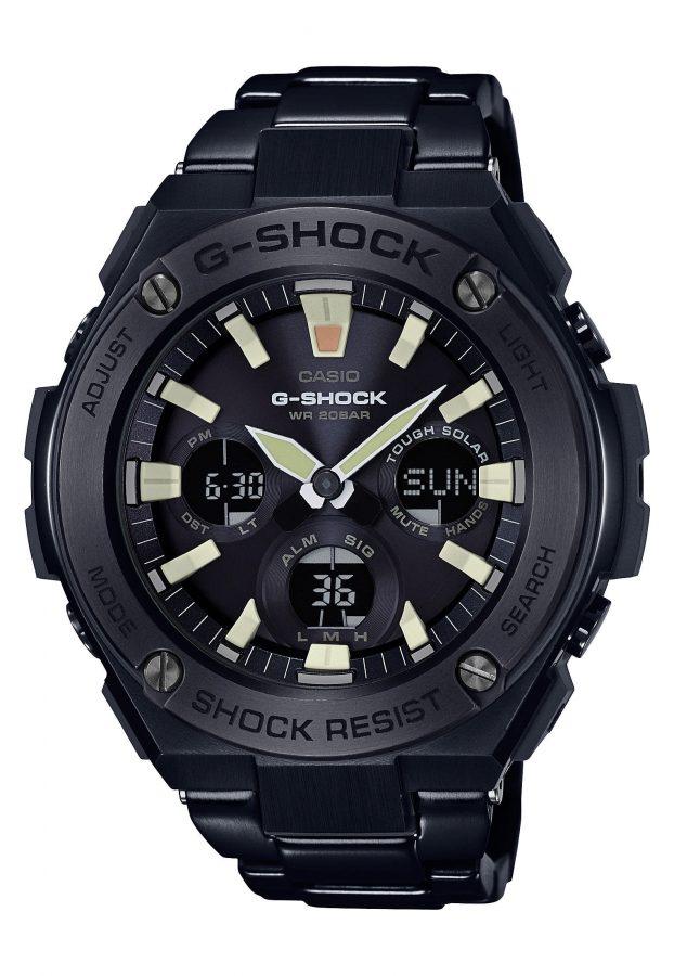 G-STEEL系列GST-S130BD-1A腕錶,太陽能機芯,不鏽鋼鍊帶,參考售價:NTD 14,500。
