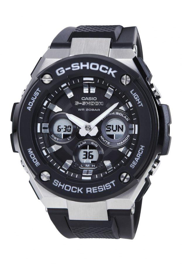 G-STEEL系列GST-S300-1A腕錶,43.5毫米錶徑款,太陽能機芯,橡膠錶帶,參考售價:NTD 8,000。