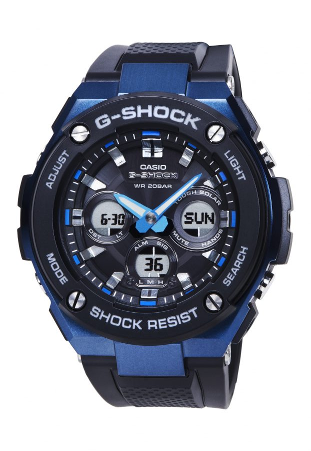 G-STEEL系列GST-S300G-1A2腕錶,43.5毫米錶徑款,太陽能機芯,橡膠錶帶,參考售價:NTD 8,500。