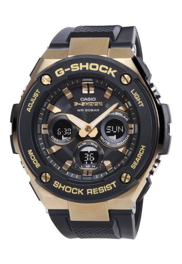 G-STEEL系列GST-S300G-1A9腕錶,43.5毫米錶徑款,太陽能機芯,橡膠錶帶,參考售價:NTD 8,500。