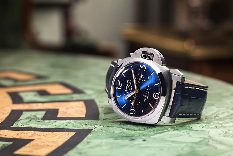 沛納海Luminor 1950 Equation of Time 8 Days GMT 8日動力儲存兩地時間腕錶