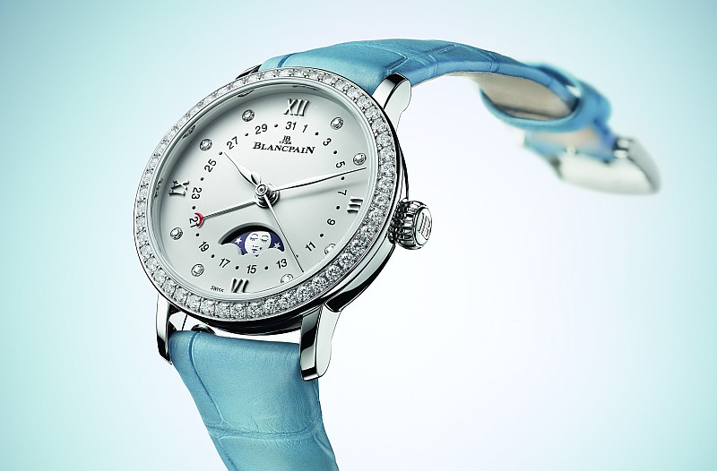 月亮美人當空閃耀:Blancpain Villeret Quantième Phases de Lune女士月相腕錶