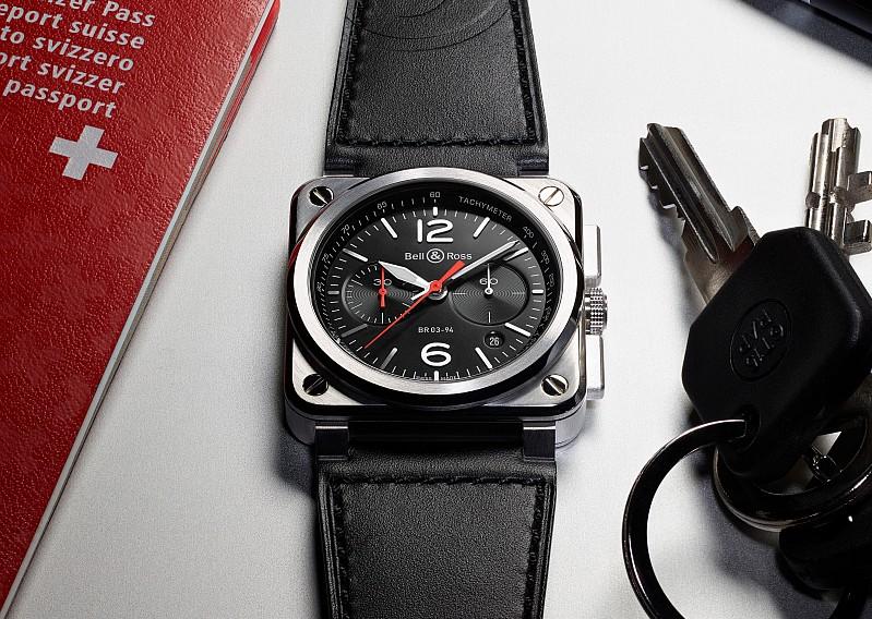 以航空科技儀器為設計靈感:Bell & Ross BR03-94 Black Steel / Blue Steel