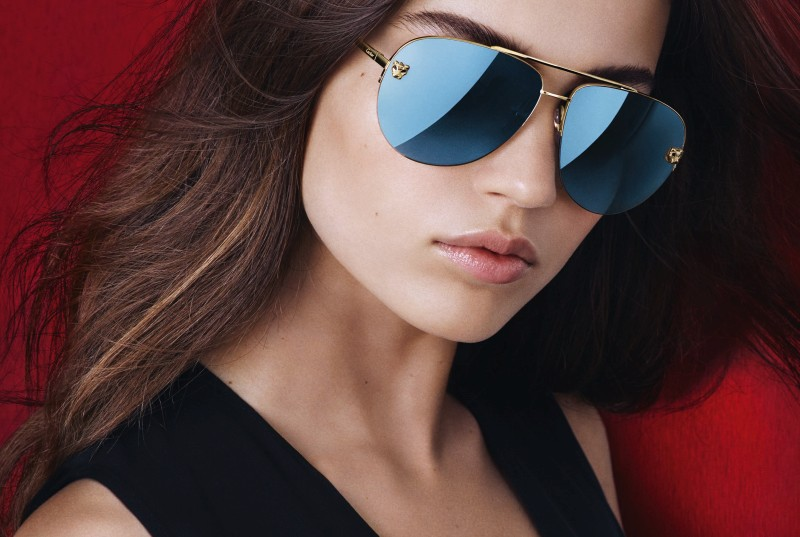 卡地亞推出新款Panthère de Cartier Pilot 美洲豹飛行員造型太陽眼鏡