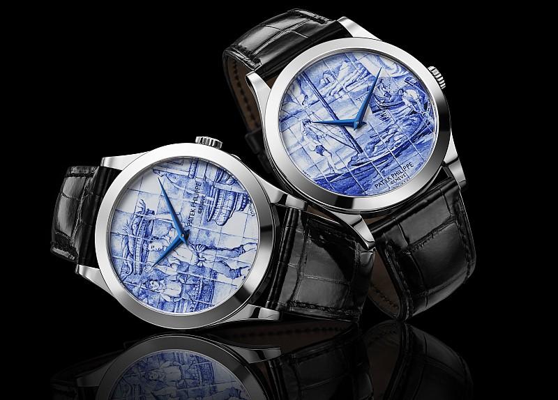 兼容傳統工藝與創新技術的魅力舞台:Calatrava 5089G Azulejos 花磚圖案限量琺瑯錶,5131/1P和7130G Worldtime 世界時間腕錶