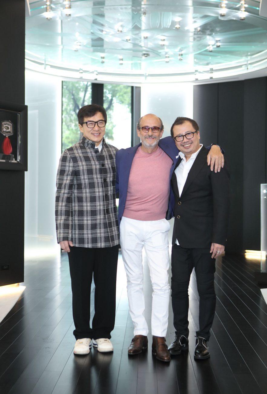 左起:成龍, 品牌創辦人 Richard Mille, 亞太區總裁 Dave Tan