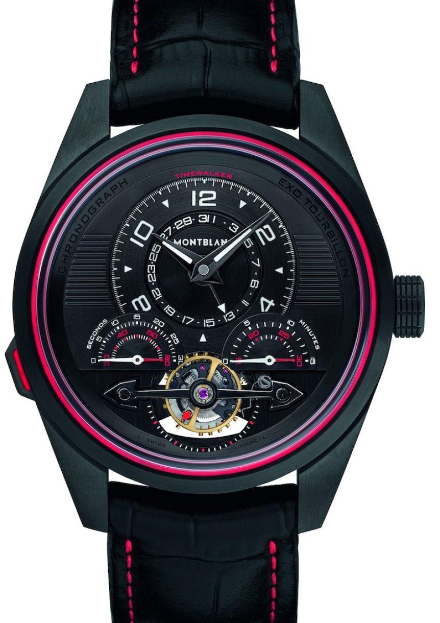 萬寶龍TimeWalker系列一分鐘外置陀飛輪計時腕錶,限量100只,參考售價:NTD 1,389,700。